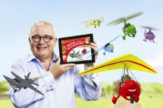 CB12 - Christopher Biggins in Shirt with Myro iPad and Friends