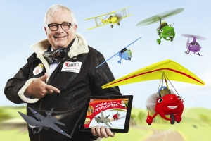 CB13 - Christopher Biggins in Jacket with Myro iPad and Friends